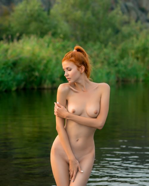 naked girls with their hair up