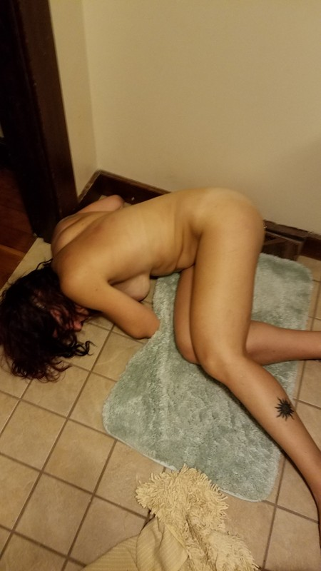 she past out drunk naked