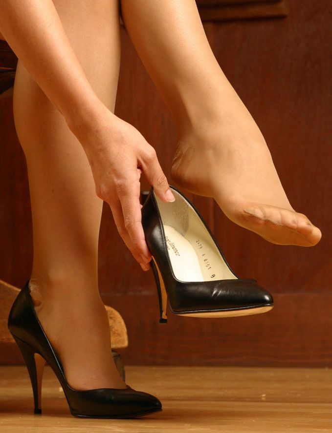 pumps and nylons