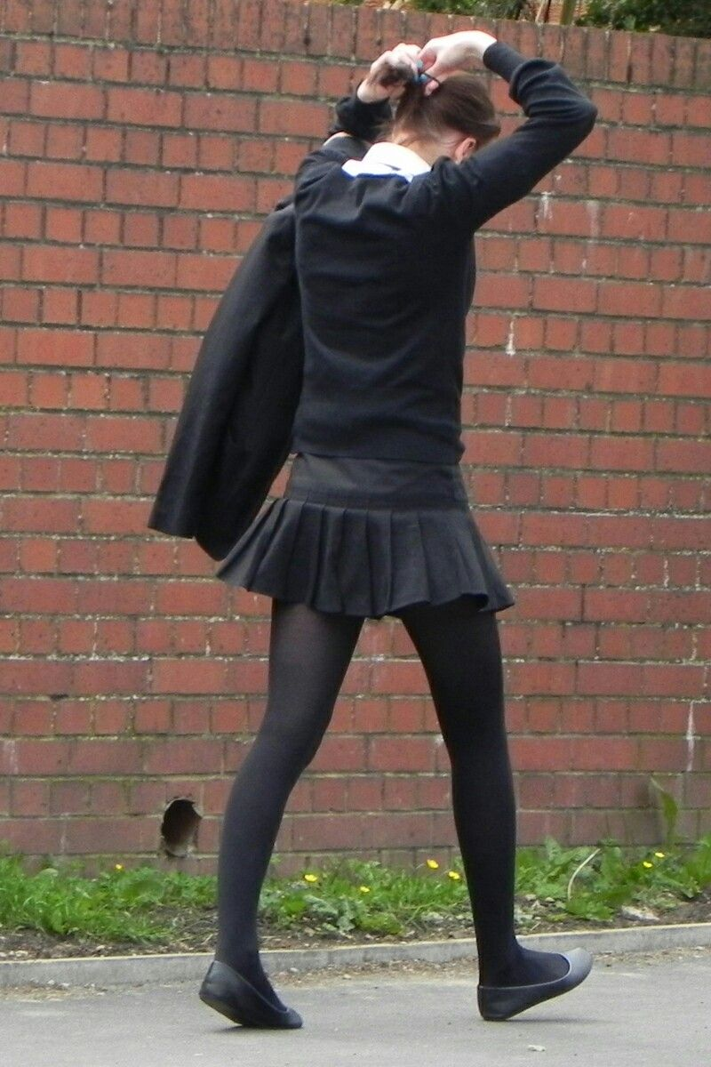 real school girls in tights